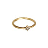 Gold Cognac Diamond Small Star Stacking Ring by Anahita for Broken English Jewelry