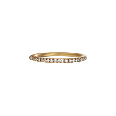 Gold White Diamond Eternity Band by Anahita for Broken English Jewelry
