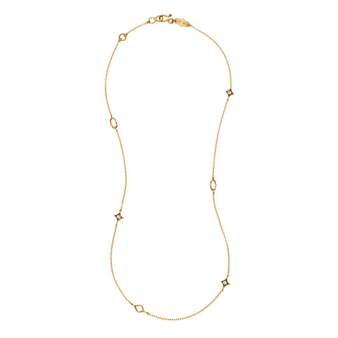 Gold Cognac Diamond Cable Chain by Anahita for Broken English Jewelry