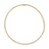 Gold & White Diamond Link Choker by Anita Ko for Broken English Jewelry