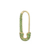 Gold & Tsavorite Safety Pin Earring by Anita Ko for Broken English Jewelry