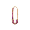 Gold & Ruby Safety Pin Earring by Anita Ko for Broken English Jewelry
