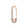 Gold & White Diamond Safety Pin Earring by Anita Ko for Broken English Jewelry