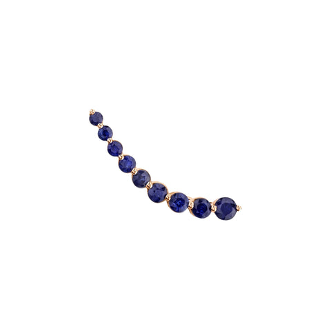 Gold & Floating Sapphire Earring by Anita Ko for Broken English Jewelry