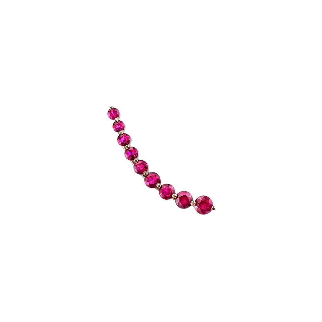 Gold Floating Ruby Earring by Anita Ko for Broken English Jewelry