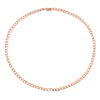 Anita Ko Chain Link Necklace with Pear Diamond Center - Rose Gold - Necklaces - Broken English Jewelry