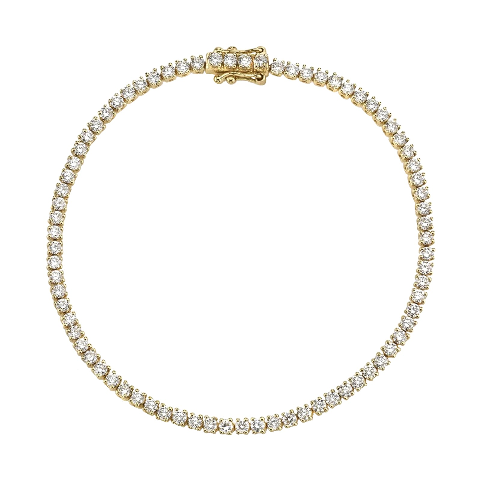 Gold & White Diamond Hepburn Bracelet by Anita Ko for Broken English Jewelry