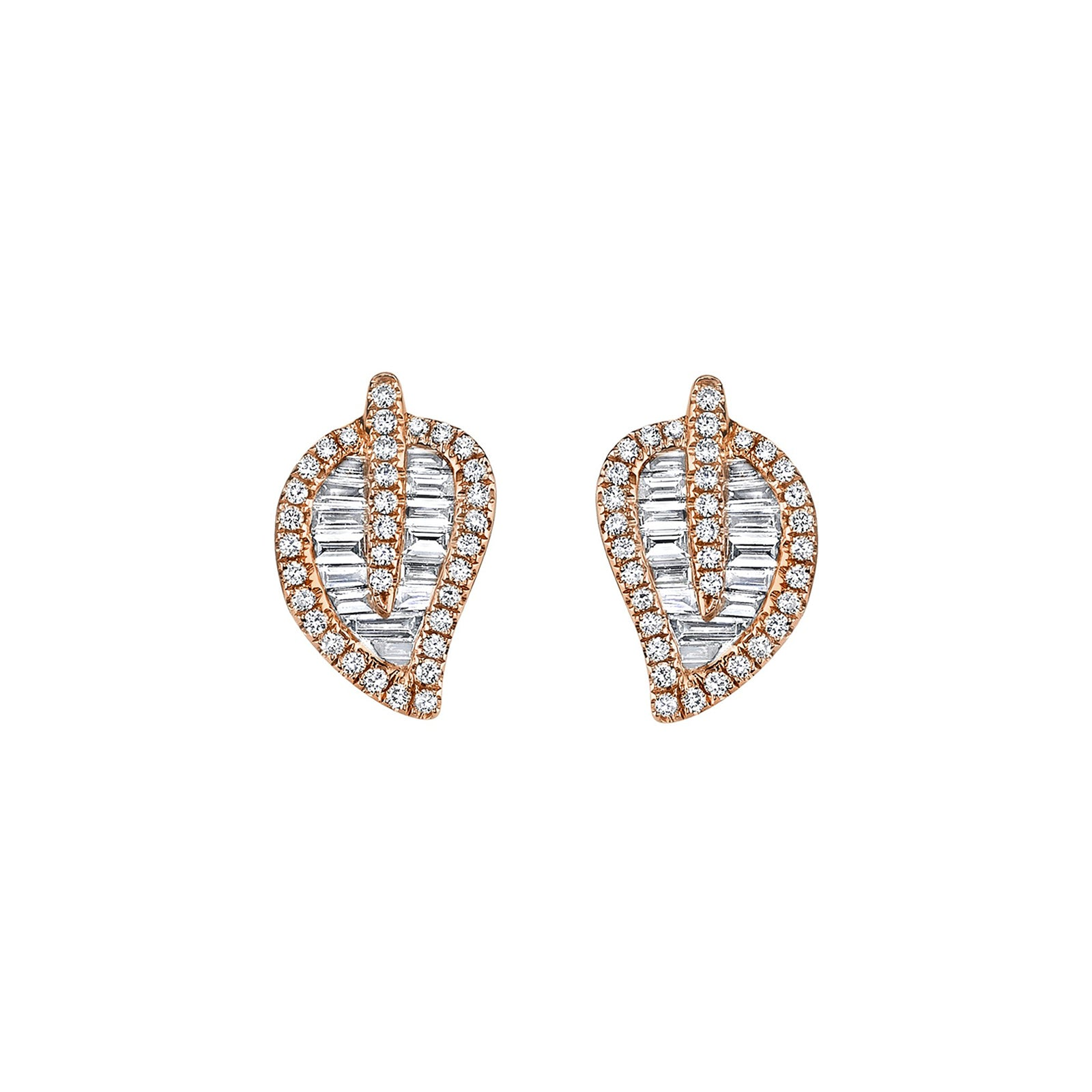 Leaf Studs - Small by Anita Ko - Earrings - Broken English Jewelry