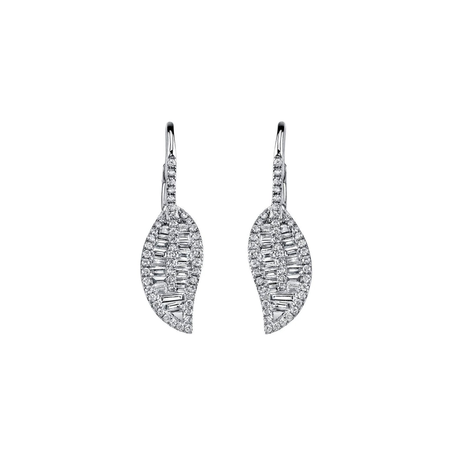 Anita Ko Leaf Drop Earrings - Earrings - Broken English Jewelry