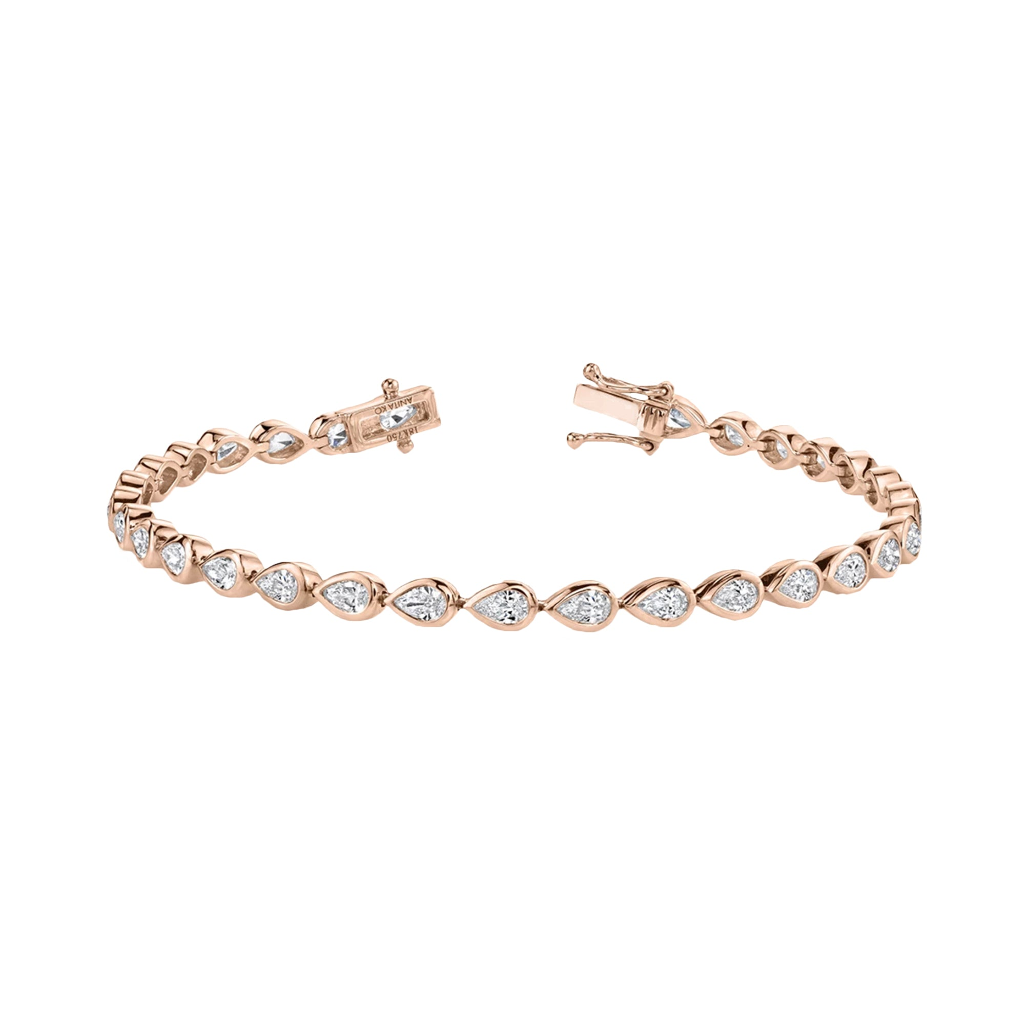 Pear Diamond Bezel Tennis Bracelet - Anita Ko - Bracelets | Broken English Jewelry
