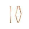 Anita Ko Plain Angled Hoops - Earrings - Broken English Jewelry