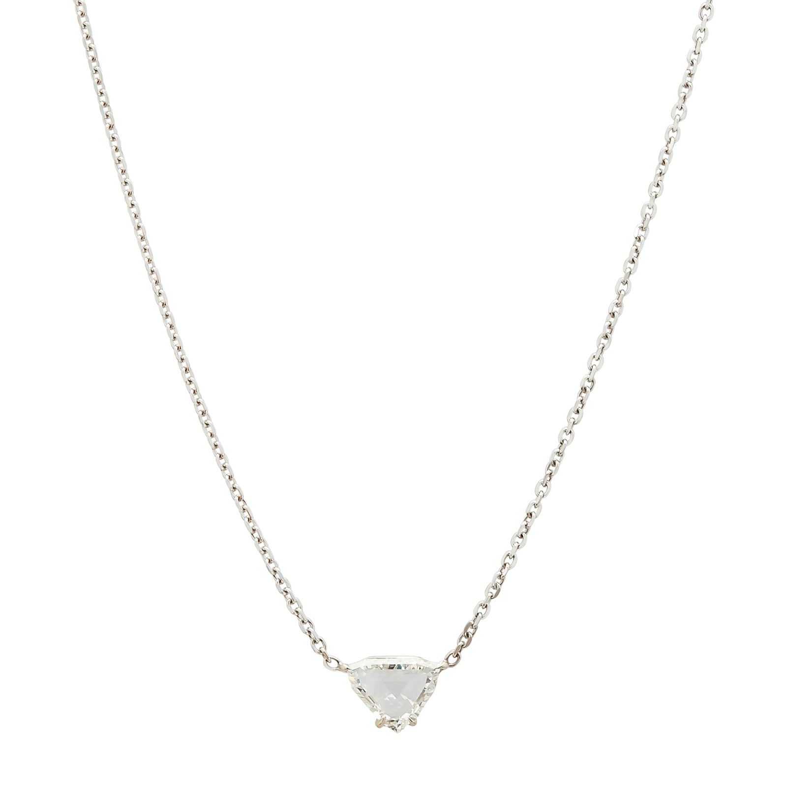 Anita Ko Rose Cut Trillion Diamond Necklace - Necklaces - Broken English Jewelry