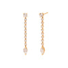 Anita Ko Short Rope Earrings with Marquise Drop - Earrings - Broken English Jewelry