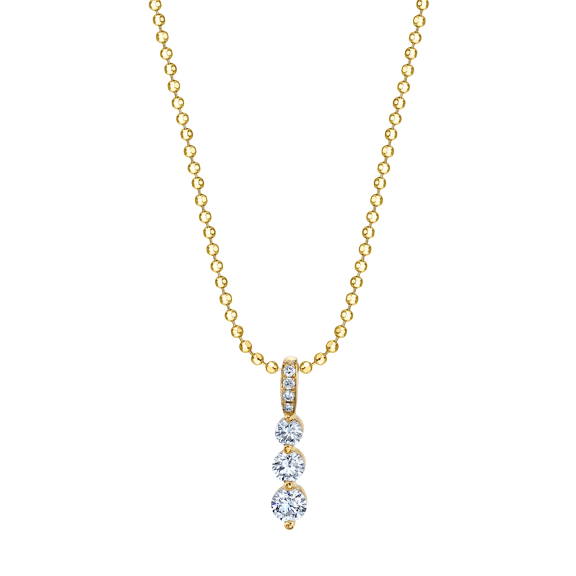 Anita Ko Small Diamond Twiggy Necklace - Yellow Gold - Necklaces - Broken English Jewelry