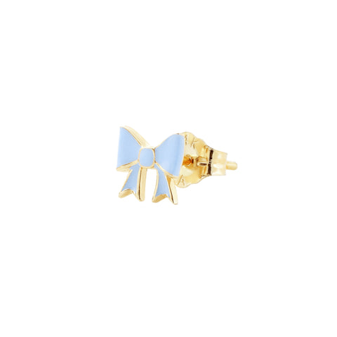 Blue Bow Stud - Alison Lou - Earrings | Broken English Jewelry