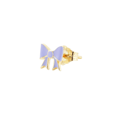 Purple Bow Stud - Alison Lou - Earrings | Broken English Jewelry