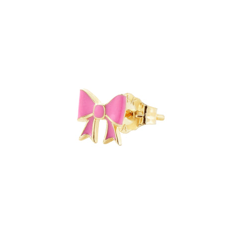 Pink Bow Stud - Alison Lou - Earrings | Broken English Jewelry