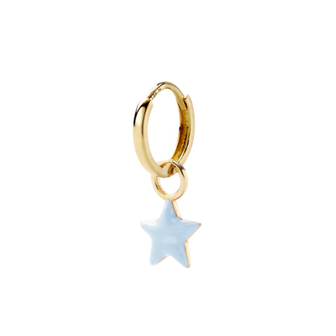 Blue Claire Tiny Star Huggy - Alison Lou - Earrings | Broken English Jewelry