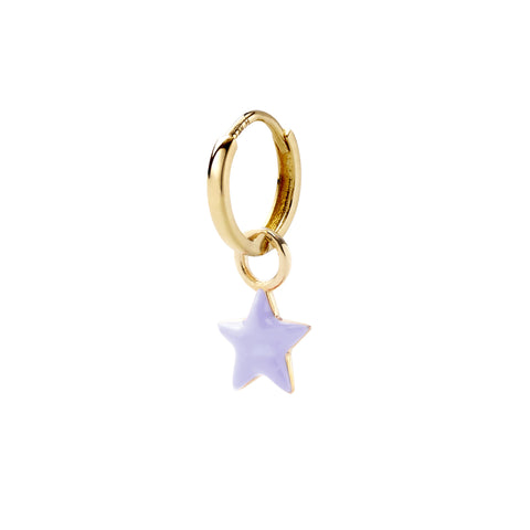 Lavender Tiny Star Huggy - Alison Lou - Earrings | Broken English Jewelry