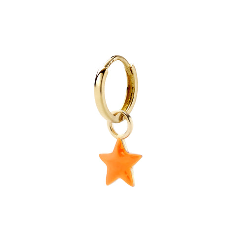 Neon Orange Tiny Star Huggy - Alison Lou - Earrings | Broken English Jewelry
