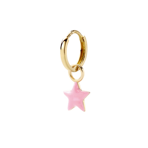 Rose Claire Tiny Star Huggy - Alison Lou - Earrings | Broken English Jewelry