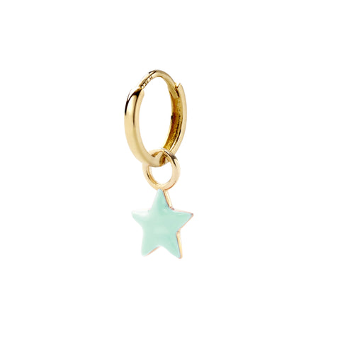 Vert Claire Tiny Star Huggy - Alison Lou - Earrings | Broken English Jewelry