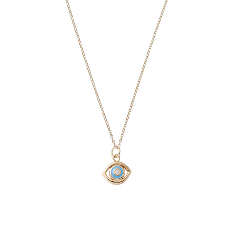 Blue Evil Eye Necklace - Alison Lou - Necklaces | Broken English Jewelry