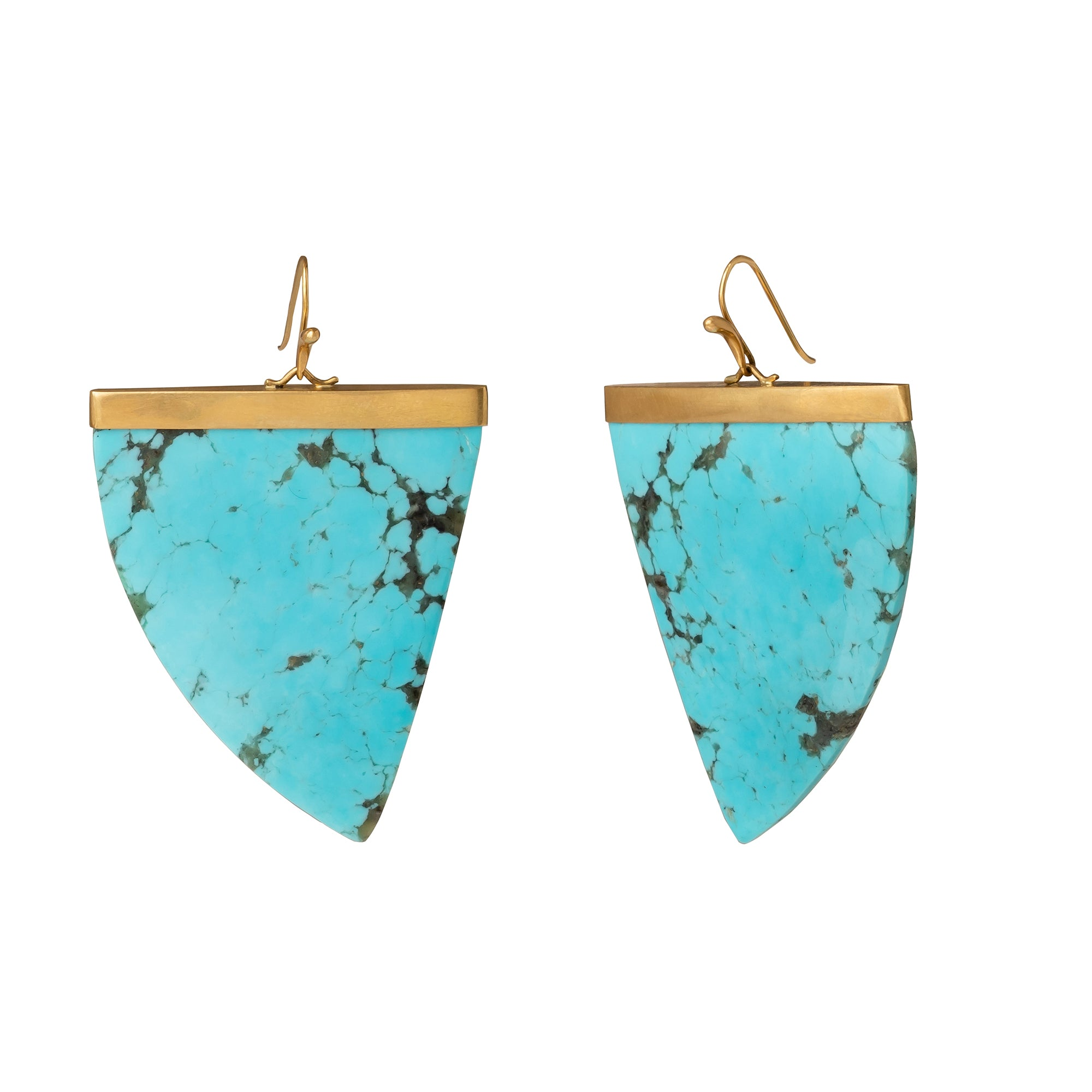 Large One-Of-A-Kind Turquoise Amazon Claws - Annette Ferdinansen - Earrings | Broken English Jewelry