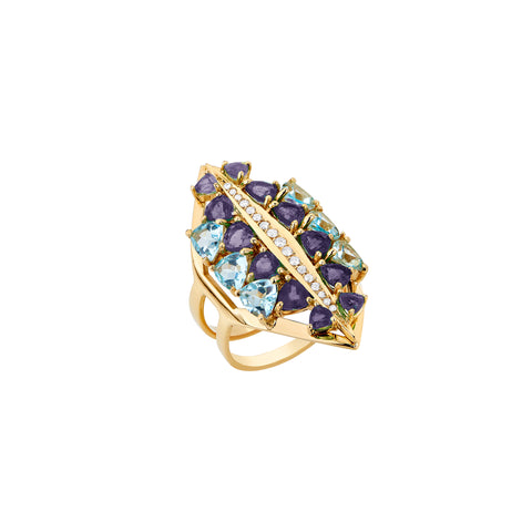 Galactic Electra Ring - Carol Kauffman - Rings | Broken English Jewelry
