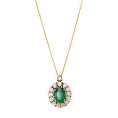Emerald Pendant by Legend Amrapali for Broken English Jewelry