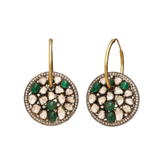 Drop Shield Earrings by Legend Amrapali for Broken English Jewelry