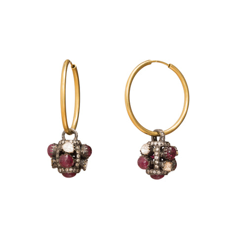 Diamond & Tourmaline Earrings by Legend Amrapali for Broken English Jewelry