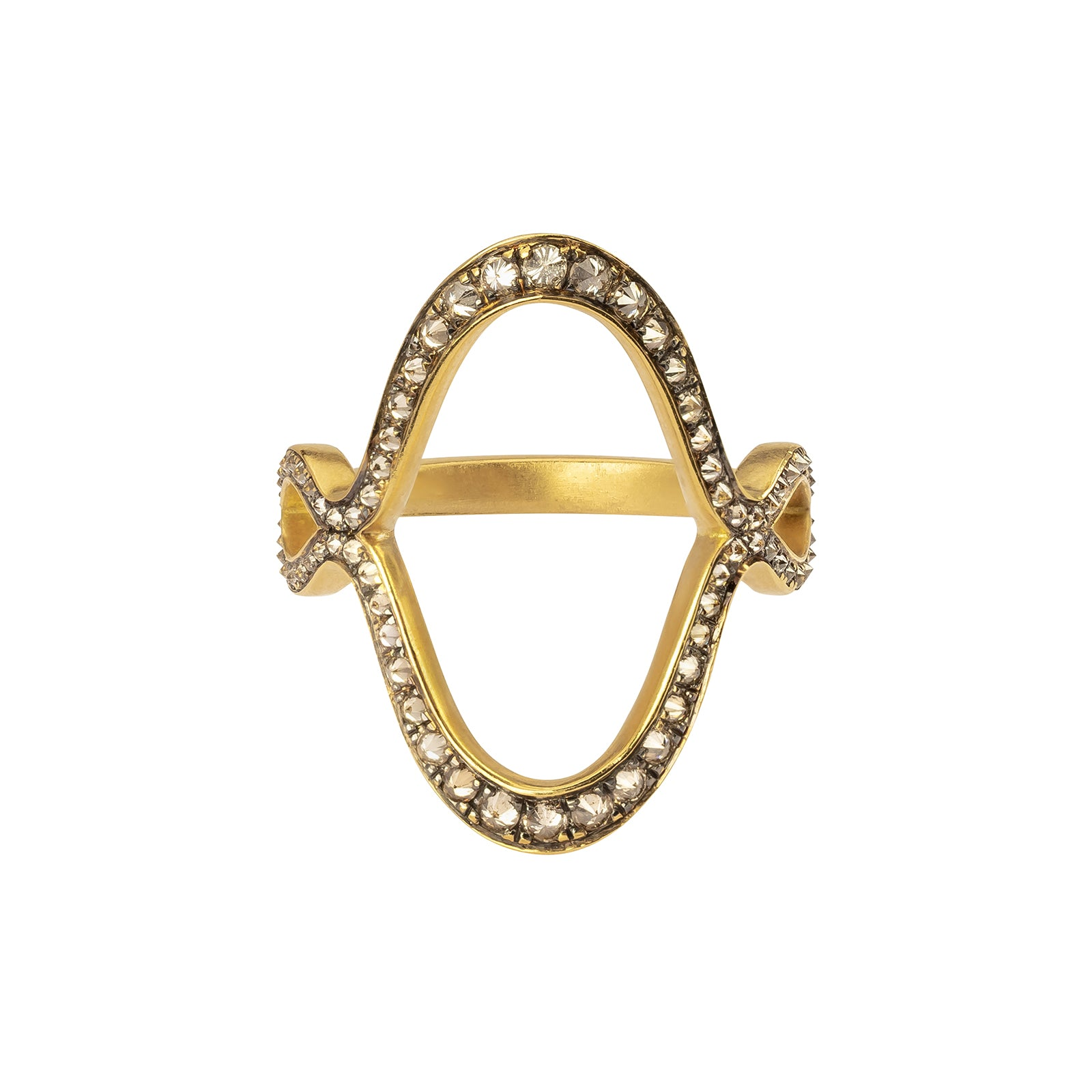 Anahita Jaws Anah Motif Reverse Ring - Rings - Broken English Jewelry
