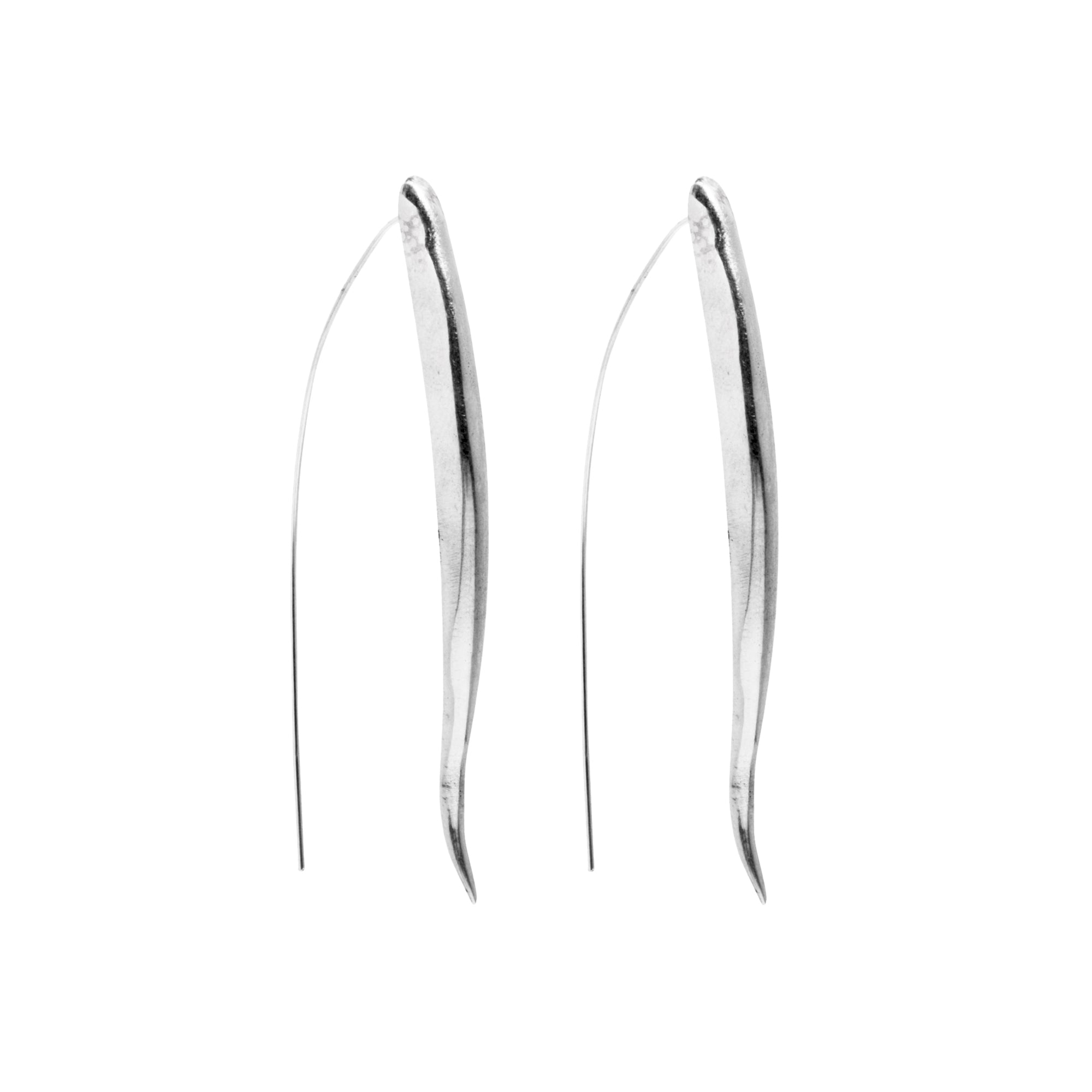 Silver Kalahari Earrings by Ariana Boussard-Reifel for Broken English Jewelry