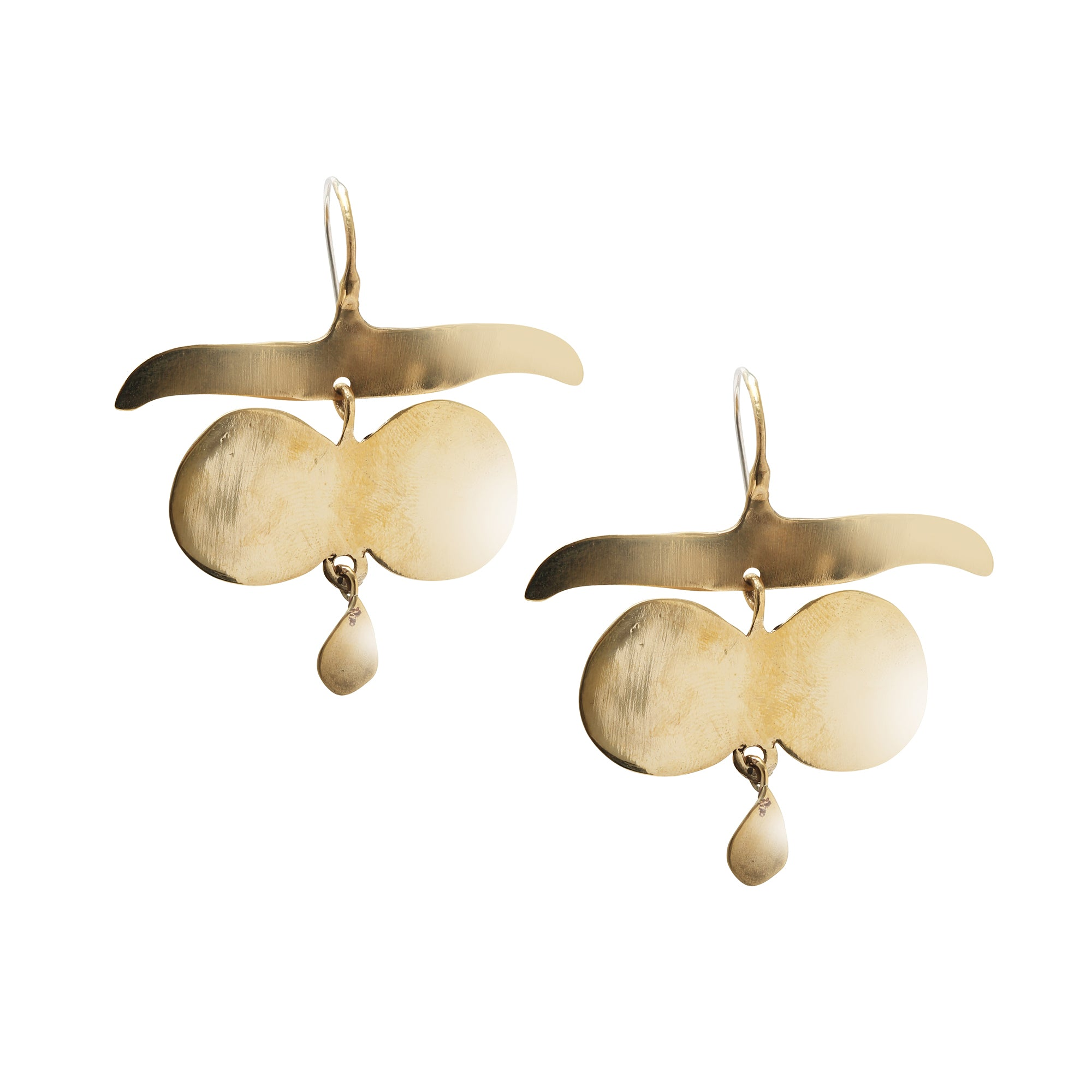 Brass Platoro Earrings by Ariana Boussard-Reifel for Broken English Jewelry