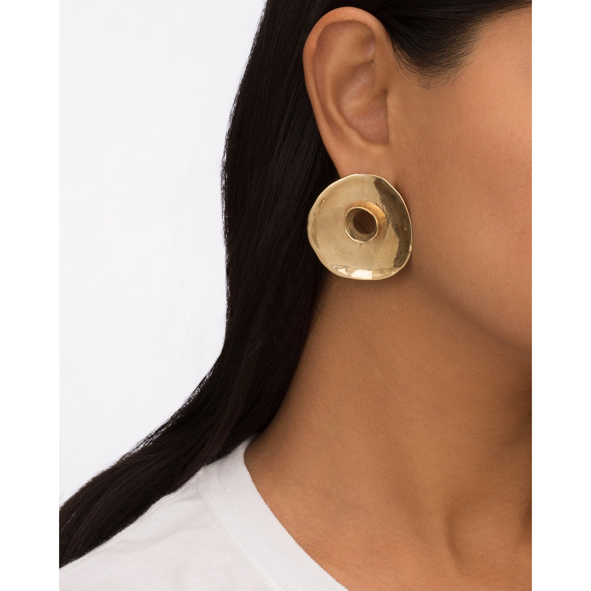 Brass Rosa Earrings by Ariana Boussard-Reifel