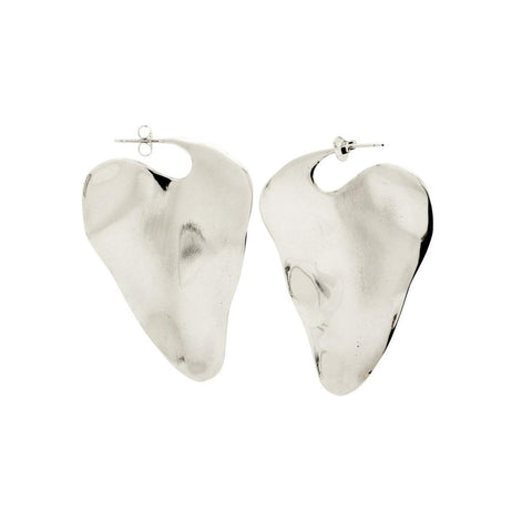 Silver Coretta Earrings by Ariana Boussard-Reifel for Broken English Jewelry