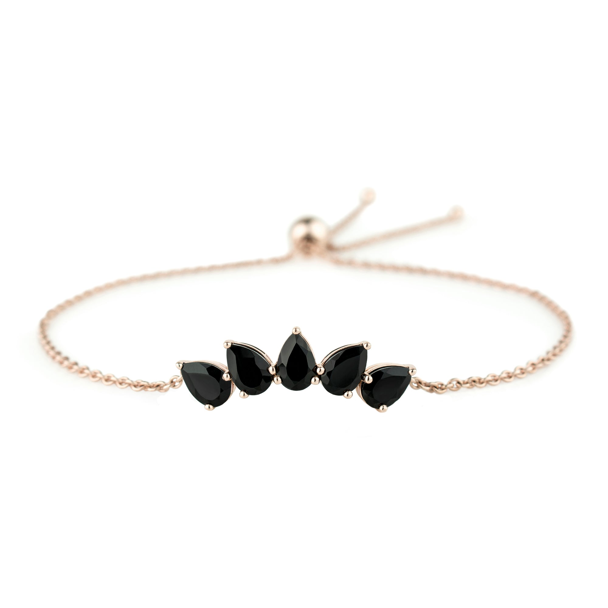 Black Spinel Honore Bracelet by Altruist for Broken English Jewelry