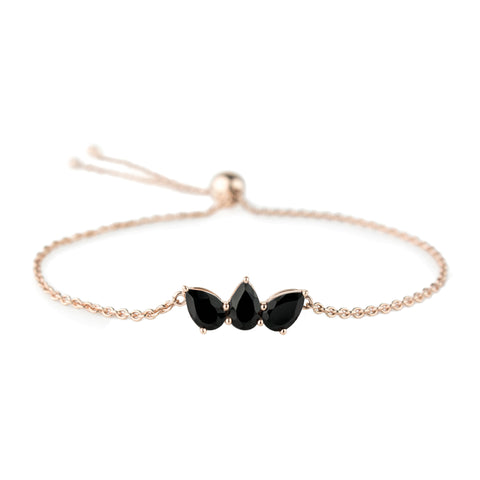 Black Spinel Olympia Bracelet by Altruist for Broken English Jewelry