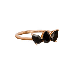 Black Spinel Olympia Ring by Altruist for Broken English Jewelry
