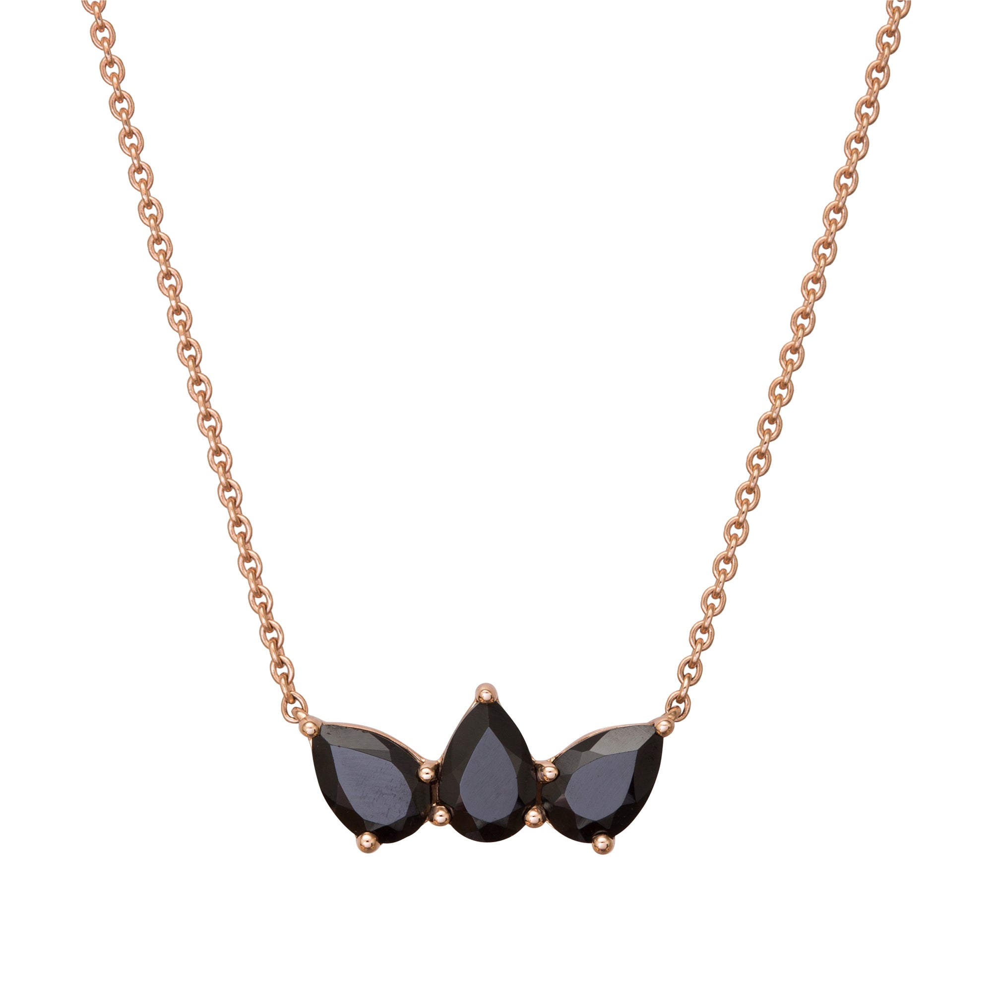 Black Spinel Olympia Necklace by Altruist for Broken English Jewelry