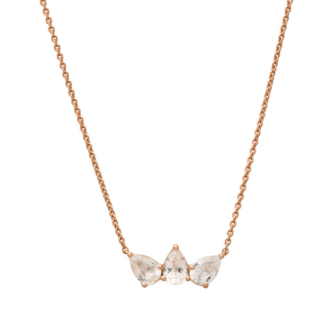 White Sapphire Olympia Necklace by Altruist for Broken English Jewelry