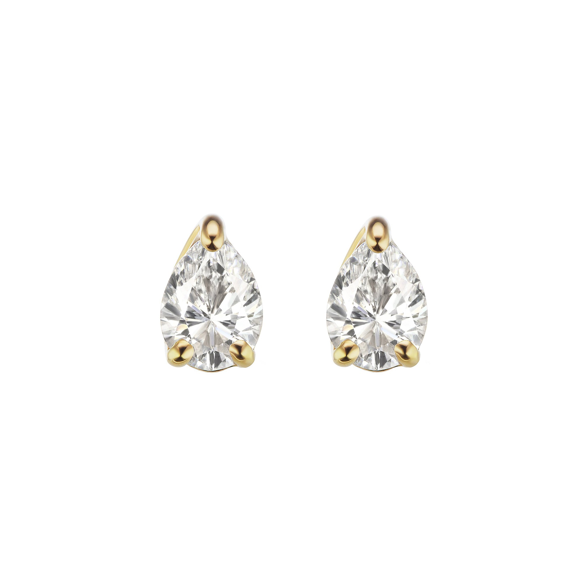 White Sapphire Pirum Studs by Altruist for Broken English Jewelry