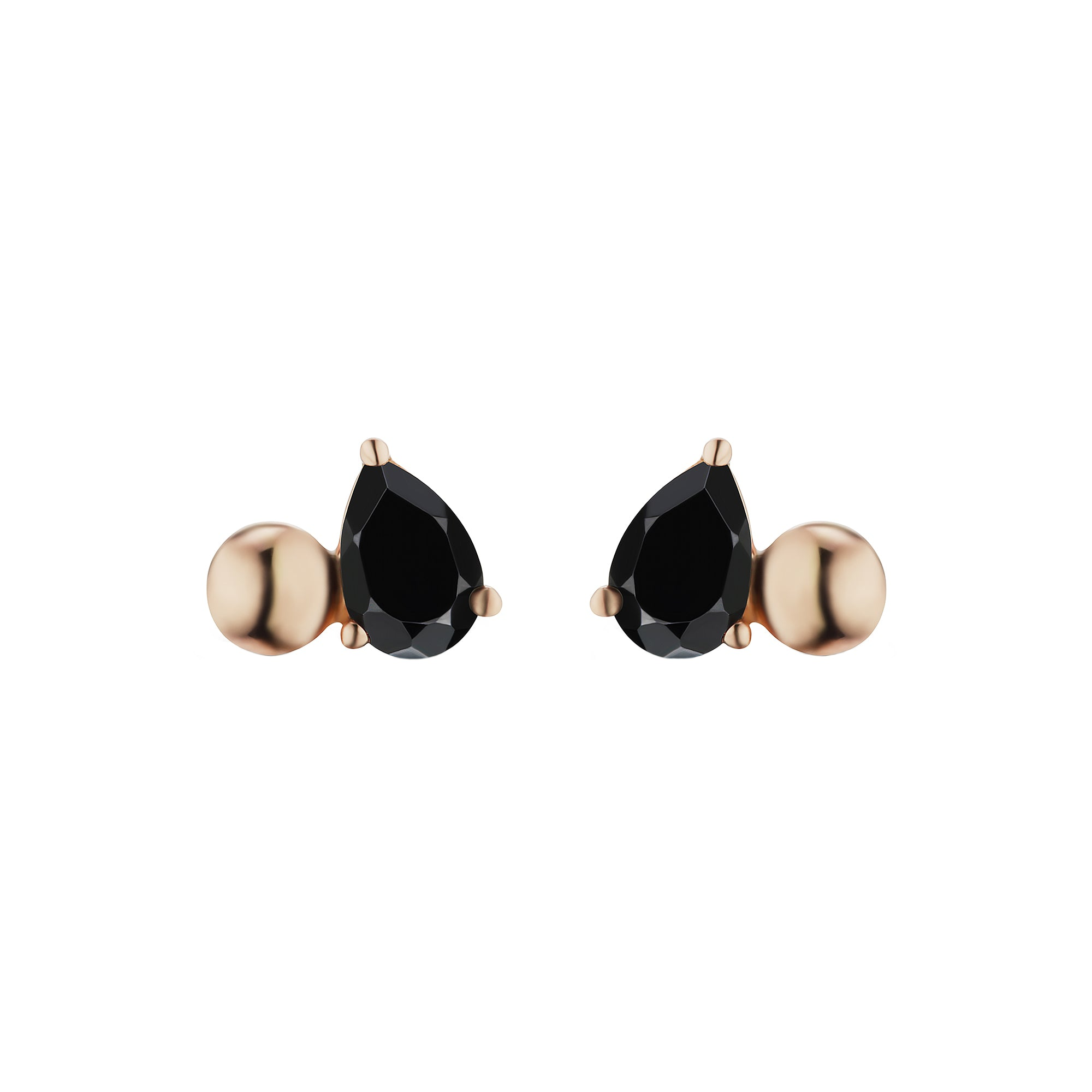Black Spinel Pirum Sphera Studs by Altruist for Broken English Jewelry