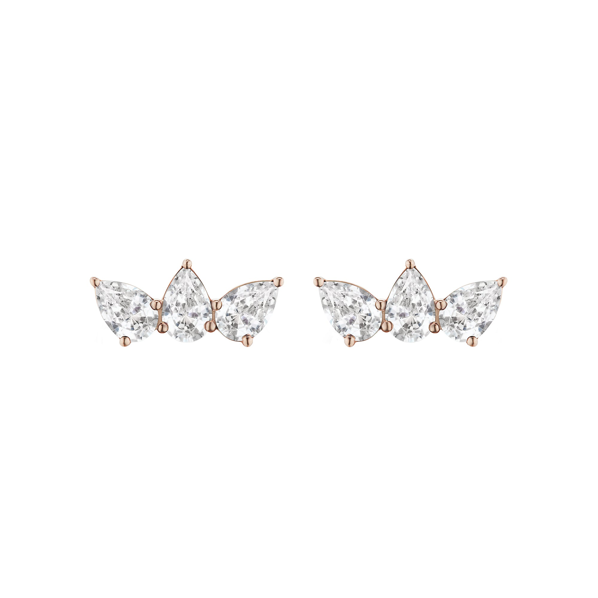 White Sapphire Olympia Studs by Altruist for Broken English Jewelry