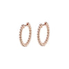 8mm Volataire Beaded Hoops by Altruist for Broken English Jewelry