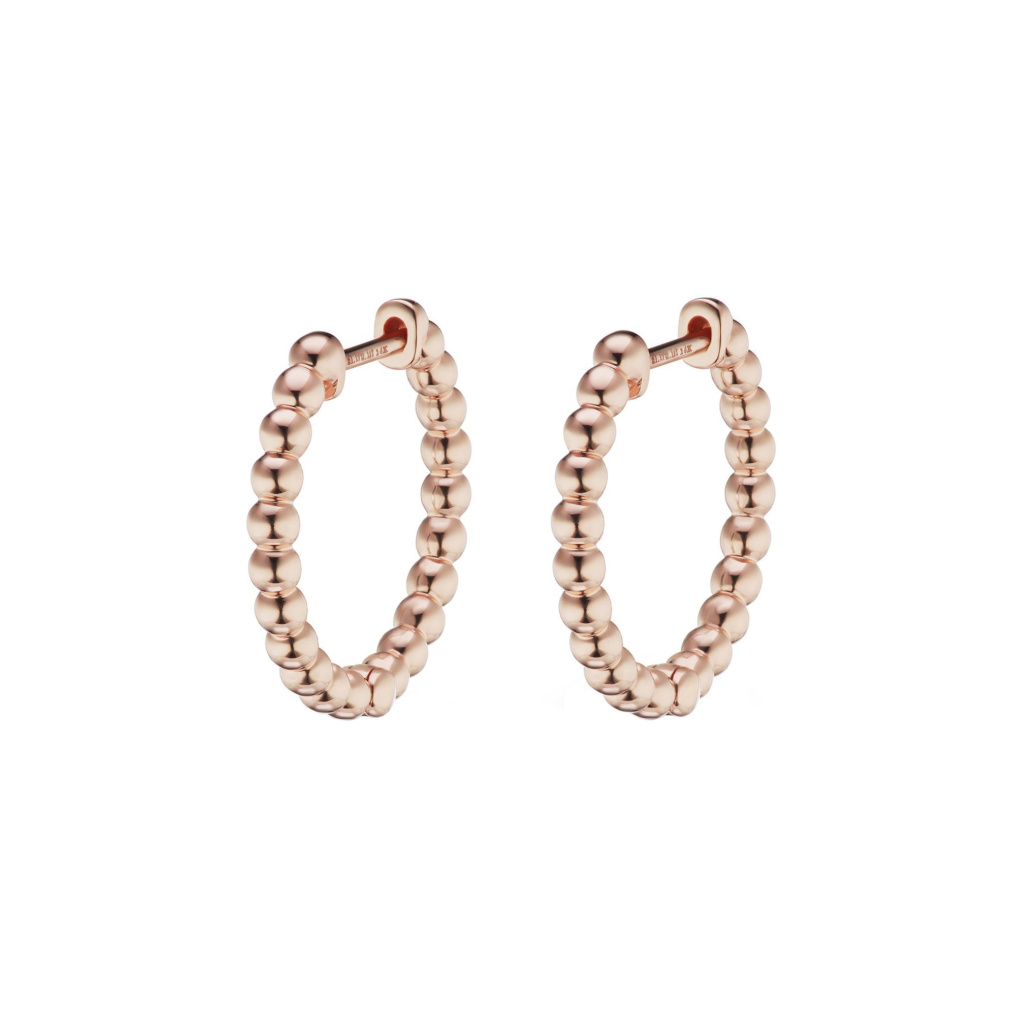 10mm Volataire Beaded Hoops by Altruist for Broken English Jewelry