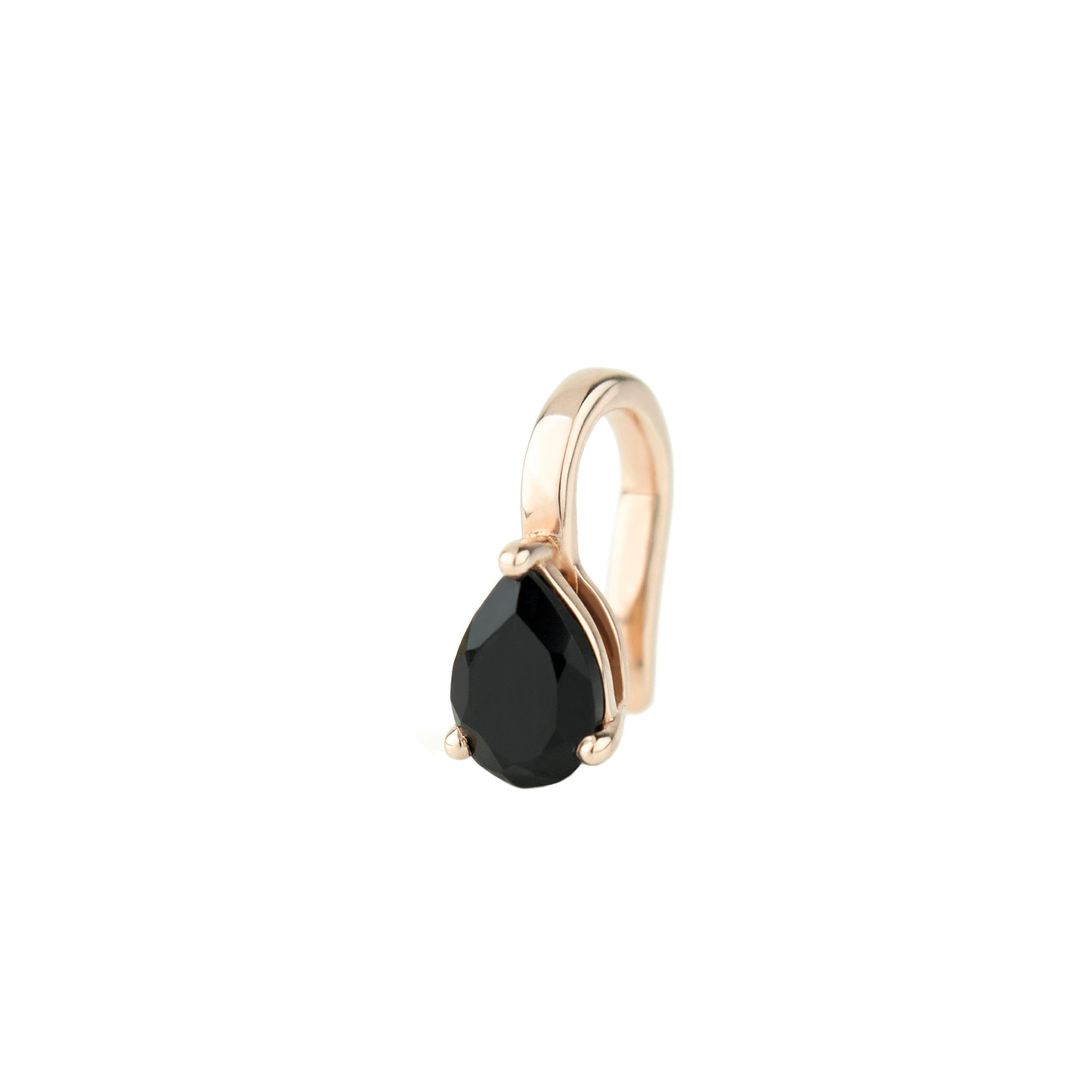 Altruist Black Spinel Pirum Ear Clip - Earrings - Broken English Jewelry