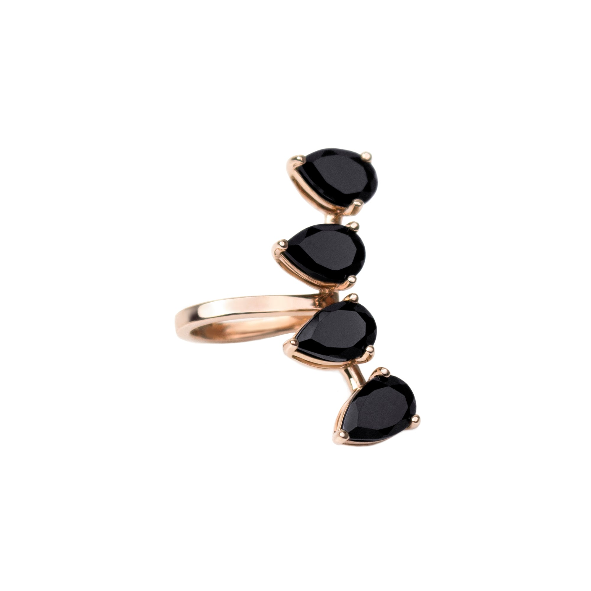 Black Spinel Neuilly Clip by Altruist for Broken English Jewelry