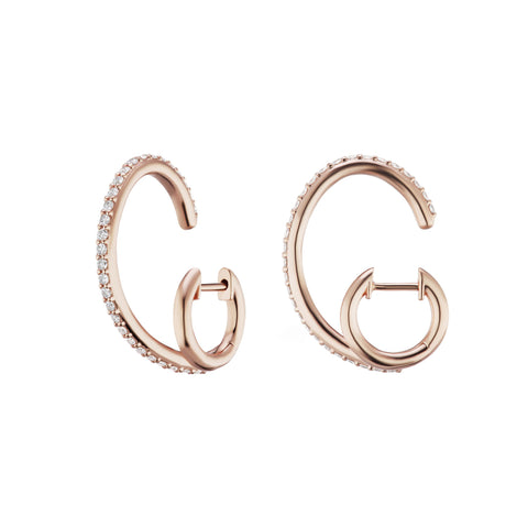 White Diamond Espionne II Rose Gold Earrings - Altruist - Earrings | Broken English Jewelry